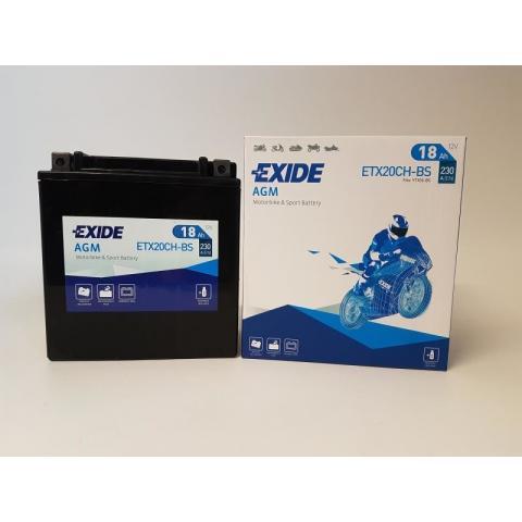 EXIDE Bike Maintenance Free Motobatéria EXIDE BIKE AGM - MAINTENANCE FREE 12V 18AH 230A, YTX20CH-BS