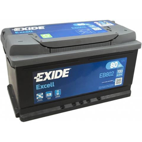 EXIDE EXCELL 12V 80 AH 700A, EB802