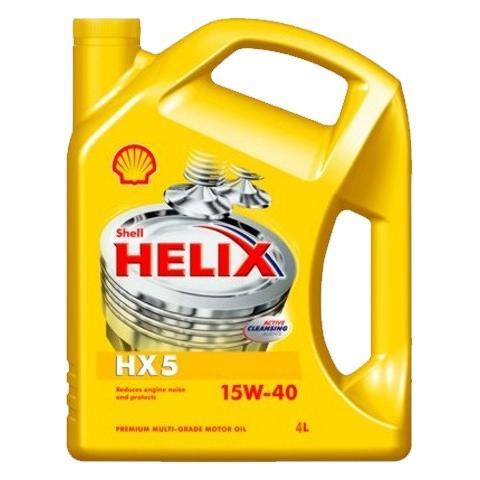 motorový olej SHELL HELIX HX5 15W-40 4L.