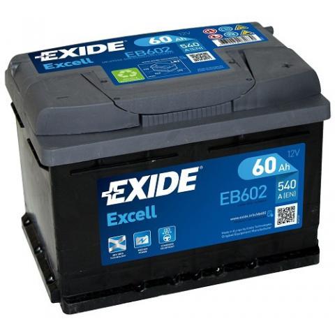 Autobateria EXIDE Excell 60Ah, 12V, EB602
