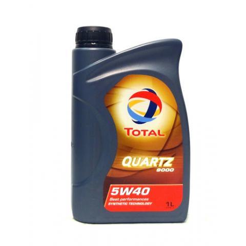 Motorový olej TOTAL QUARTZ 9000 1L 5W-40 1L.