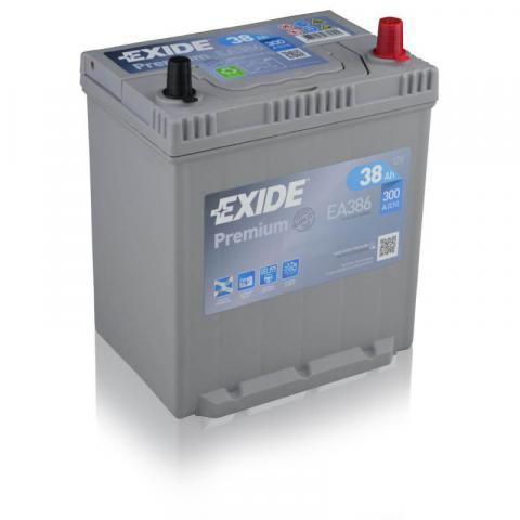 Autobatéria EXIDE Premium 12V, 38AH, 300A, EA-386