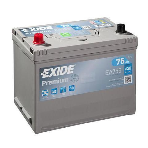 Autobatéria EXIDE Premium 75Ah, 12V, EA755