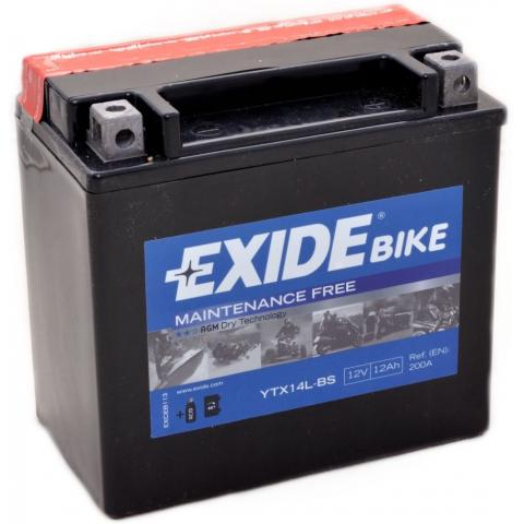 Motobatéria EXIDE BIKE Maintenance Free 13Ah, 12V, YTX15L-BS