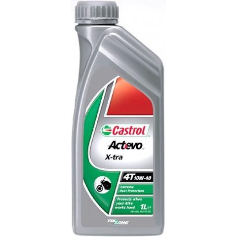 Motorový olej Castrol ACT EVO X-TRA 4T 10W-40 1L.