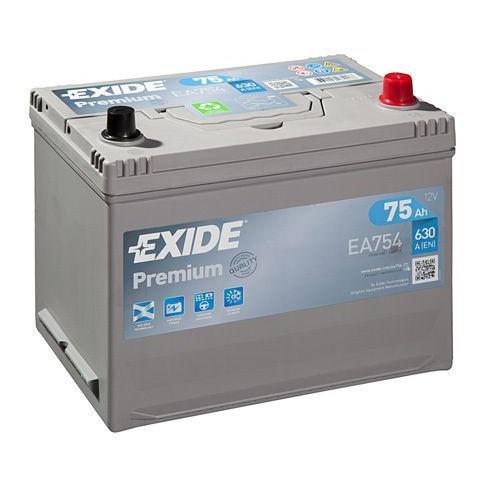 Autobatéria EXIDE Premium 75Ah, 12V, EA754