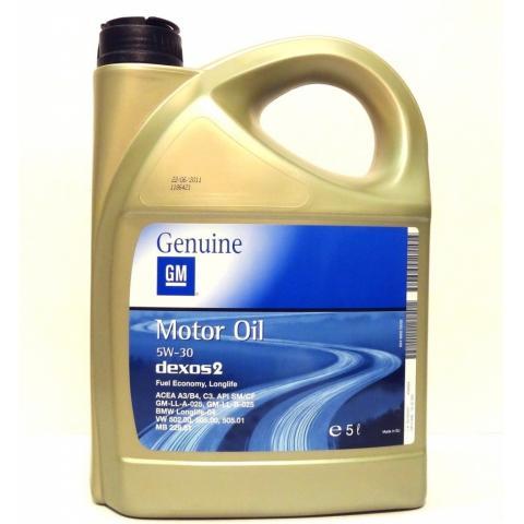 Motorový olej OPEL MOTOR OIL DEXOS 2 5W-30 5L.
