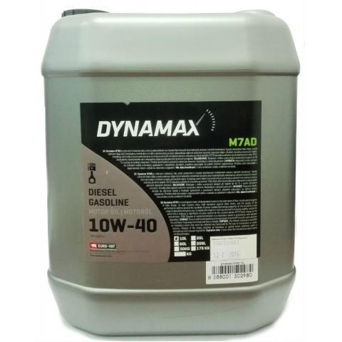 Motorový olej Dynamax M7AD  10W-40 10L.