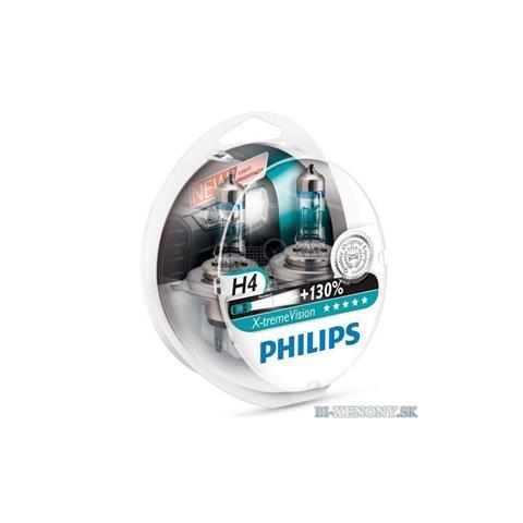 X-tremeVision Philips 12V H4 60/55W P43T X-treme Vision +130% Box
