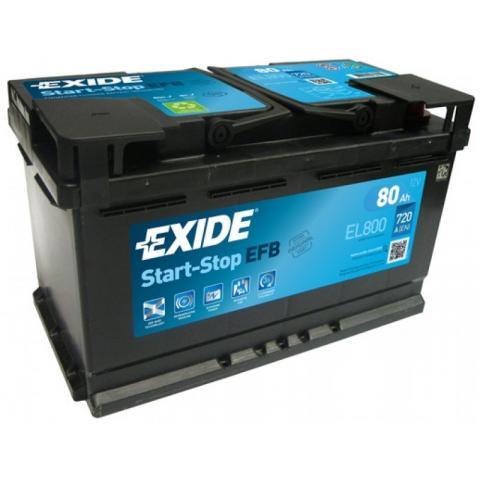 Autobateria EXIDE Start-Stop EFB 12V 80AH 720A EL800