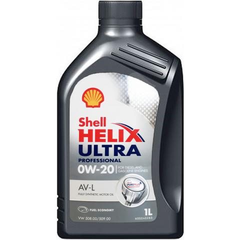 Motorový olej Shell Ultra Professional AV-L 0W-20 1L.