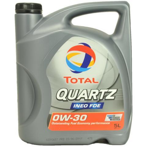 Motorový olej Total Quartz Ineo FDE 0W-30 5L.