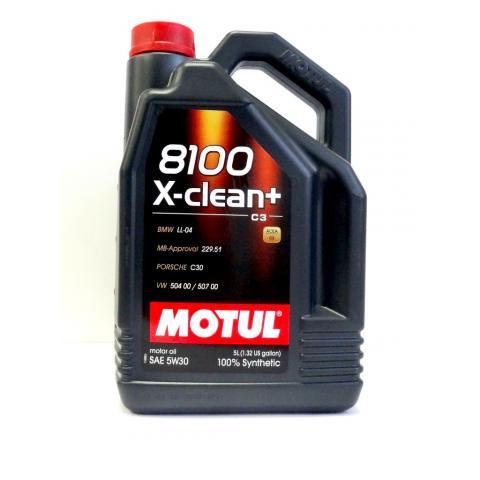 Motorový olej MOTUL 8100 X-Clean +  5W-30 5L